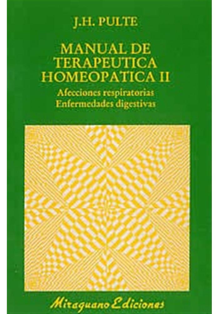 Manual de terapeutica homeopática II