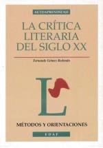 La Crítica literaria del siglo XX
