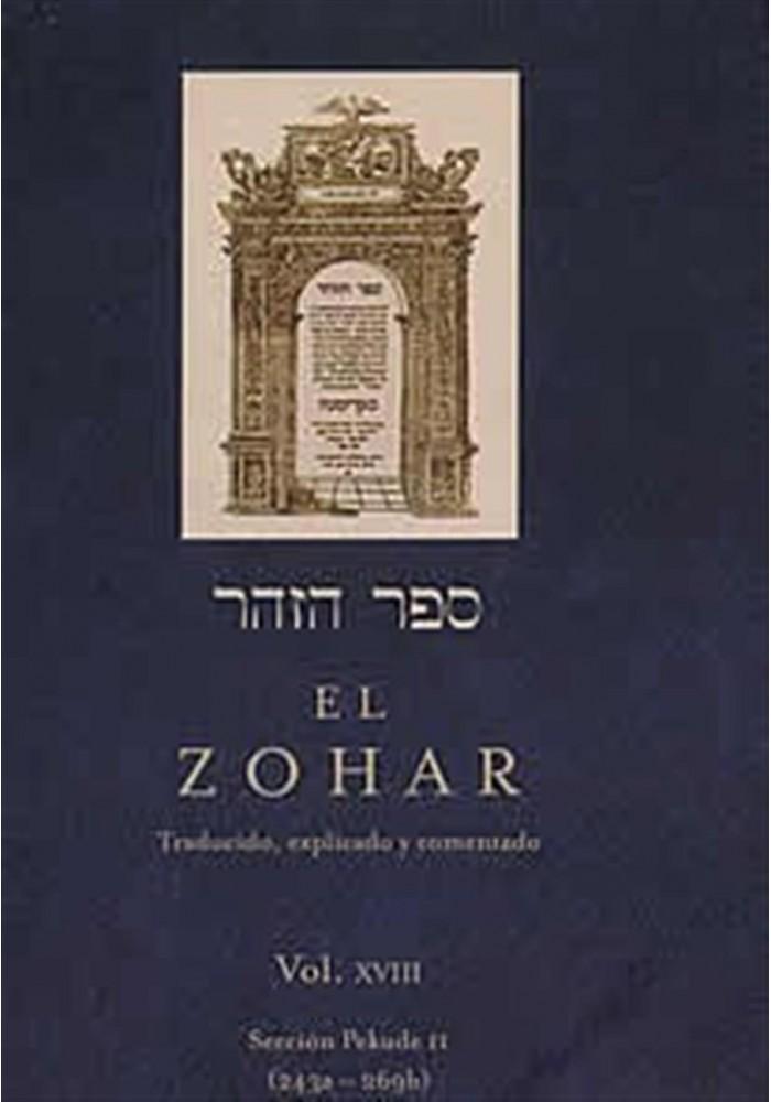 El Zohar- Vol-XVIII-Sección Pekude (243a-269b) - Librería