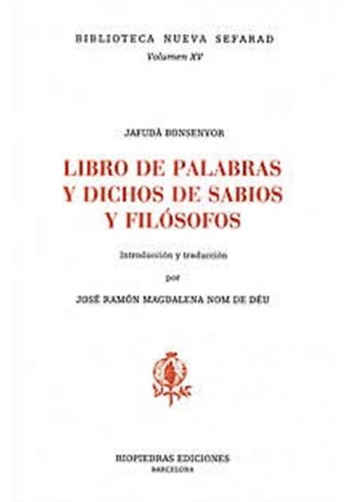 El libro de las palabras y dichos de sabios y filósofos